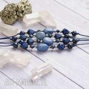 handmade szafir, awenturyn, lapis lazuli, hematyt