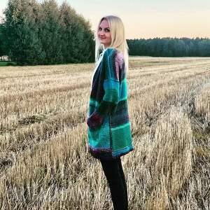 sweter autumn garden, sweter, nadrutach, ciepłysweter, kardigan, wełniany