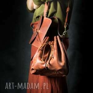 skórzana torba ręcznie wykonana z odpinaną podszewką, damska