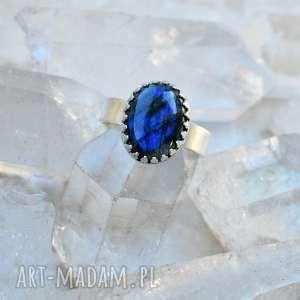 pierścionki pierścień z labradorytem