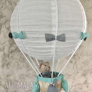 lamado lampa latający miś, lampa, balon, miś, wisząca
