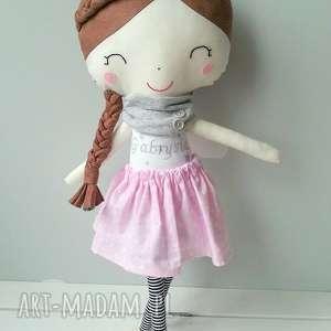 lalka gabrysia - lalka, przytulanka, warkoczyki, dziewczynka, bawełna, filc