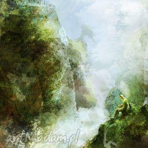 obraz - wodospad płótno, obraz, pejzaż, natura, wodospad, prezent, plótno
