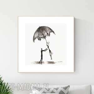 grafika 30x30 cm wykonana ręcznie, abstrakcja, obraz do salonu, 2649161