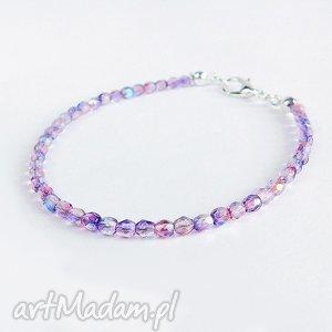bransoletki wrzosowa - minimalisyczna bransoletka, koralikowa, wrzosowa, fioletowa