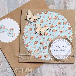 KARTKA ŚLUBNA :: HANDMADE kwiatuszki, ślub, ślubna