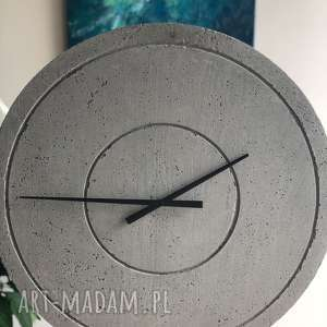 zegar betonowy groove nautral szary handmade, betonowy, loftowy, nowoczesny