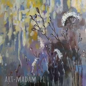 jesienna łąka v -obraz akrylowy formatu 40/30 cm, łąka, jesień, akryl