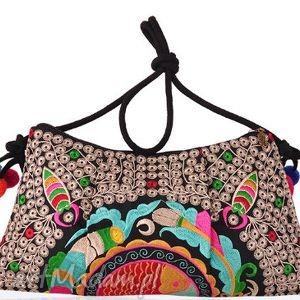 hong, kolorowo, etnicznie, energicznie, boho, haft, hmong torebki