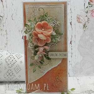 Serdeczne życzenia - kartka w pudełku 3 scrapbooking kartki