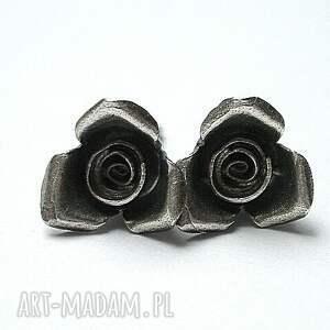 RÓŻYCZKI SILVER, srebro, róże, romantyczne, sztyfty