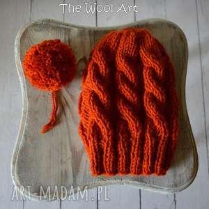 ruda czapka - czapka, nagłowę, czapkanadrutach, nadrutach