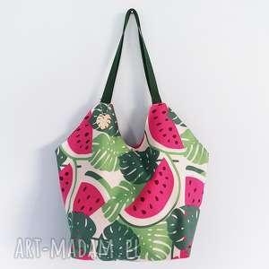 torba xl arbuzy - ,shopperka,plażowa,torba,oversize,arbuzy,monstera,