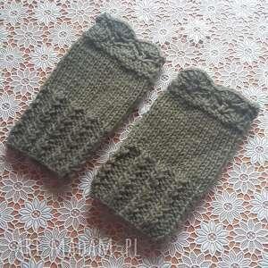 hand made rękawiczki krótkie mitenki