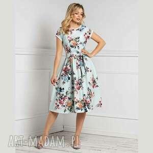 sukienka marie midi melania, w kwiaty, wiosna, romantyczna