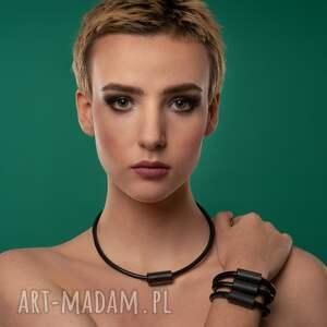 ręczne wykonanie naszyjniki kolekcja czarna perła   minimalistyczny naszyjnik