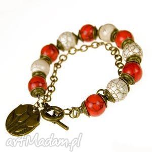 bransoletki c376 bransoletka w barwach narodowych, bransoletka, białoczerwona, kibica