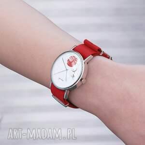 zegarki zegarek - japońskie żurawie 2 czerwony, nato, zegarek, bransoletka