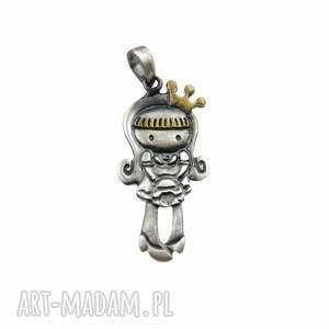 ręczne wykonanie wisiorki księżniczka sonia - zawieszka srebrna