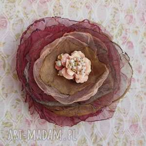 Romantyczna, broszka, brosza, kwiat, ozdoba, stylowa, romantyczna