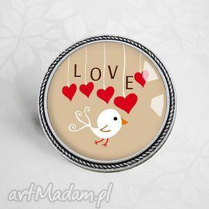 LOVE ♥ MIŁOSNA BROSZKA NA WALENTYNKI, serce, serduszko, serduszka, walentynkowy