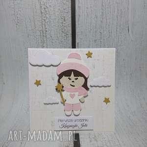 zaproszenie kartka zimowa królewna - zaproszenie, dziewczynka, wróżka, zima