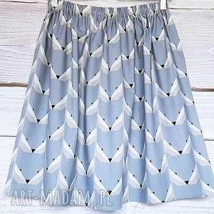 Unikalna spódniczka w WILKI, wilki, lisy, bawełniana-spódnica, z-kieszeniami