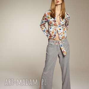 bluzy bluza barbara 8302 rozm s l xl, z suwakiem, w kwiaty, bluzaba