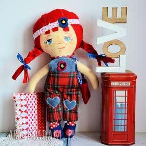 lalki lala zuzia 42 cm zestaw ubranek poduszka, lalka, malowana, unikat