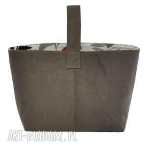 plenty more 13-0002 szara torebka damska do ręki shopper bag / na zakupy toucan