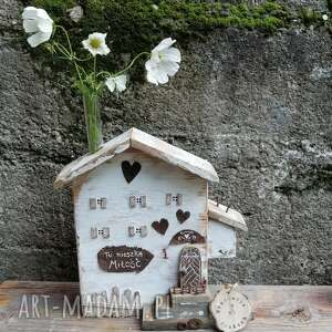 Rustykalny domek z mezurką na kwiat no 1 dekoracje pracownia