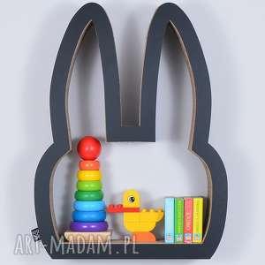 Półka na książki zabawki KRÓLIK ecoono | czarny, półka, chłopiec, dziewczynka