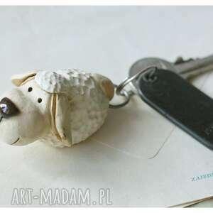 ceramika brelok owca, ceramika, brelok, klucze