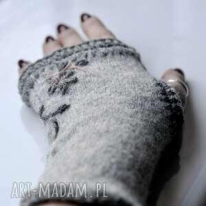 Rękawiczki mitenki the wool art rękawiczki, mitenki, wełniane
