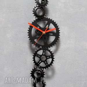 Zegar ścienny saw zegary bikes bazaar metalowy, loftowy