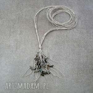 handmade naszyjniki długi naszyjnik z labradorytem