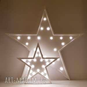 podświetlana gwiazdka - lampka 60 cm, księżyc, dziecko, sypialnia, lampa