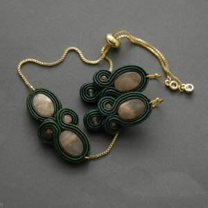 komplet biżuterii sutasz z kamieniami słonecznymi