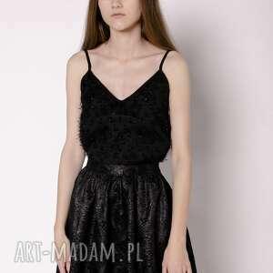 spódnice spódnica żakardowa, spódnica, żakard, czarna, mini