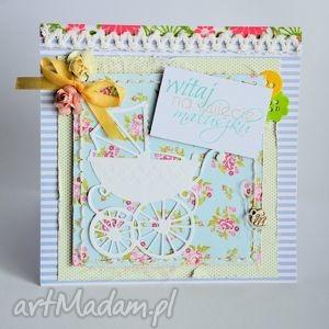 kartki kartka - witaj maluszku 2, kartka, niemowlę, chrzciny, narodziny