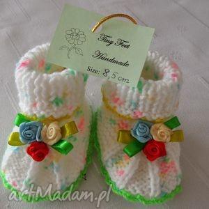 tiny feet buciki niemowlęce - wiosenne kwiaty, buciki, kapciuszki, dziecięce dla