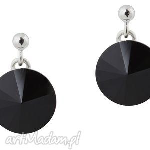 czarne modowe kolczyki rivoli jet swarovski® elements - glamour, klasyka