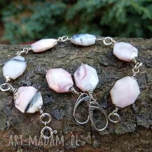 opal różowy peruwiański, opal, peruwiański