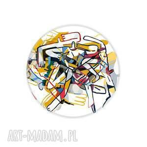 dekoracje szklany zegar fuzja, art clock, dekoracja, zegar, design, okrągły