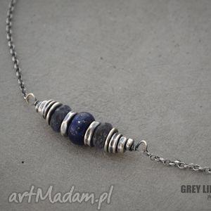 handmade naszyjniki lapis lazuli i iolit naszyjnik