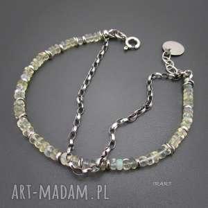 opal z etiopii - bransoletka, opal, srebro