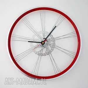 Zegar red wheel zegary bikes bazaar prezent, zegar, rowerzysta