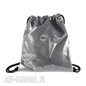 PLECAK SZNURKOWY SZARY, plecak, elegancki, pojemny, na-wycieczkę, modny, na-zakupy