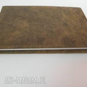 artmanual skórzana okładka na zeszyt/notatnik a5 - mocno spatynowana