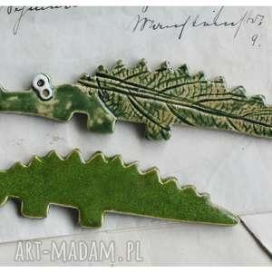 ręcznie zrobione magnesy krokodyle - zestaw magnesów